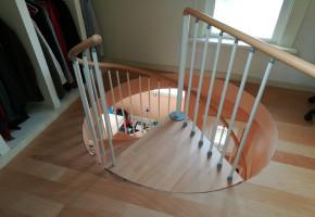 Floor Circular Spiral Staircase, For Bungalow, Minimum 1.2mtr