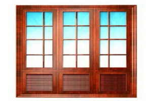 Wooden French Window   by Bhat Joinering