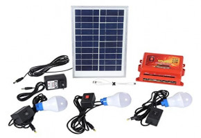 Battery Off Grid Solar Home Lighting System, For Residential, Capacity: 10 watts
