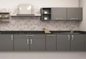Straight Modular Kitchen by Vcreate Interiors