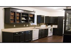 Black laminated modular kitchen