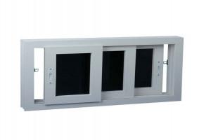 Powder Coating Aluminium Sliding Windows, Glass Thickness: 4mm