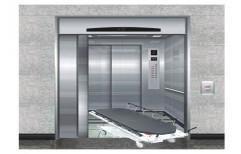 Aero 9 Persons Hospital Stretcher Elevator, Maximum Height: 80 M