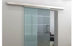 Birkan Sliding Frame Less Glass Door, For Office, Thickness: 20 Mm