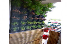 Black Plastic Vertical Garden
