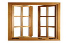 Brown Designer Wood Windows
