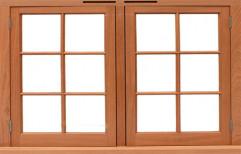 Brown Solid Wood Window