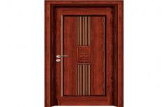 Brown Wooden Molded Panel Door