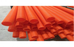 High Density Corrugated Polyethylene Pipe, Length of Pipe: 6 m