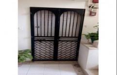 Mild Steel Safety Door, Size: 7x3 Feet
