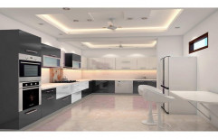 Modern Modular Kitchen, Work Provided: Wood Work & Furniture