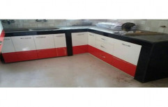 Modular L Shape Wooden Kitchens