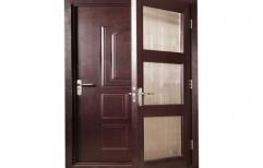 Powder Coating Brown Embossed Wood Finish With Flymesh Door