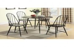 Priya Designs 1 Table,4 Chair Out Door Iron Dining Table Set, Size/Dimension: 48x30x30 Inch