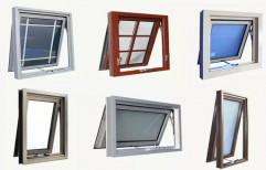 Prominance White UPVC Top Hung Windows, Glass Thickness: 5mm