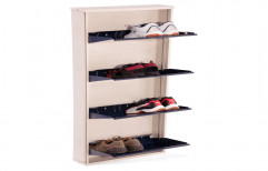 Reliable Industries Metal Wall Mounted Shoe Rack, For Shoes Storage, 4