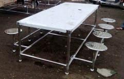 Samarth Stainless Steel Dining Tables, Shape: Rectangular