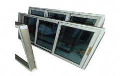 Silver Aluminium Sliding Window