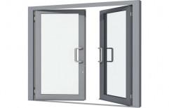 Silver Aluminum Door