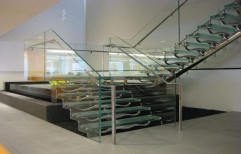 Silver Glass Staircase, For Home