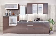 Solid Surface Acrylic Straight Modular Kitchen, Drawer Slide, Warranty: 5-10 Years