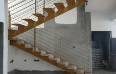 Turning Steps Pipe Hand Rail's Ms Structural Staircase
