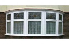 White Designer Fixed Glass Window