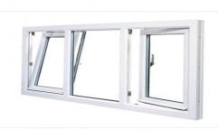 White Modern UPVC Tilt Turn Window, Size/Dimension: 4 X 5 Feet, 36 Mm