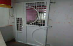 White Paint Coated Mild Steel Kitchen Door, Single, Thickness: 4 Mm
