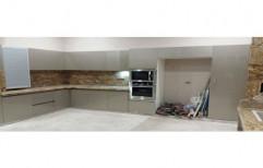 Wooden L Modular Kitchen Cabinet