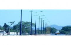 3-20 Meter Mild Steel MS Street Light Pole