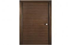 Brown Laminated Wooden Door
