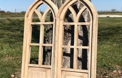 Brown Modern Pair Wooden Windows