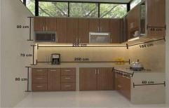 Brown Wooden Modular Office Furniture