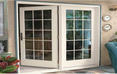Hinged Clear Glass UPVC French Door, Exterior