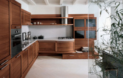 Italian P U Polish Wooden Solid Wood Kitchens, Base Unit Depth: 570mm, Warranty: 5-10 Years