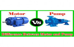 Mild Steel Industrial Motor Pump, Voltage: 220 V