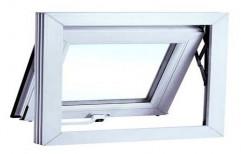 Plastone White UPVC Hung Type Window, Glass Thickness: 5mm