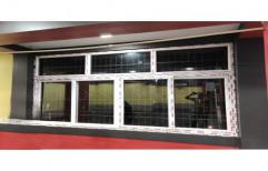 Powder Coating UPVC Fixed Sliding Window