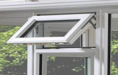 White Aluminium Top Hung Window, 3 Mm