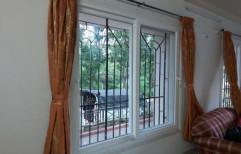 White Horizontal UPVC Sliding Window, Glass Thickness: 5-12mm