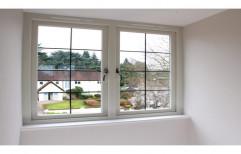 White Powder Coated 3-6 Mm Aluminium Casement Window