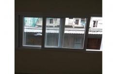 White Powder Coated Aluminium Sliding Window