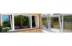 White UPVC Tilt Turn Windows, Thickness Of Glass: 10 Mm