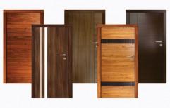 Wood Brown flush door, For Home