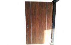 Wood Brown Laminated Door, Size: 7*3 Feet