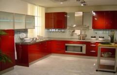 Wooden U Shape Italian kitchen, Warranty: 5-10 Years