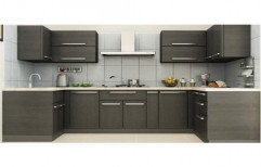 Wooden U Shape Modular Kitchen