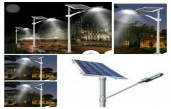12 W Aluminum Solar LED Semi Integrated Street Light, IP Rating: 65