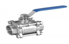 2pc And 3pc Design Screwed Rank Stainless Steel Ball Valve, For Industrial, Size: 15mm To 100mm